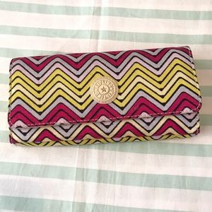 Kipling Large Yellow and Fuchsia Wallet